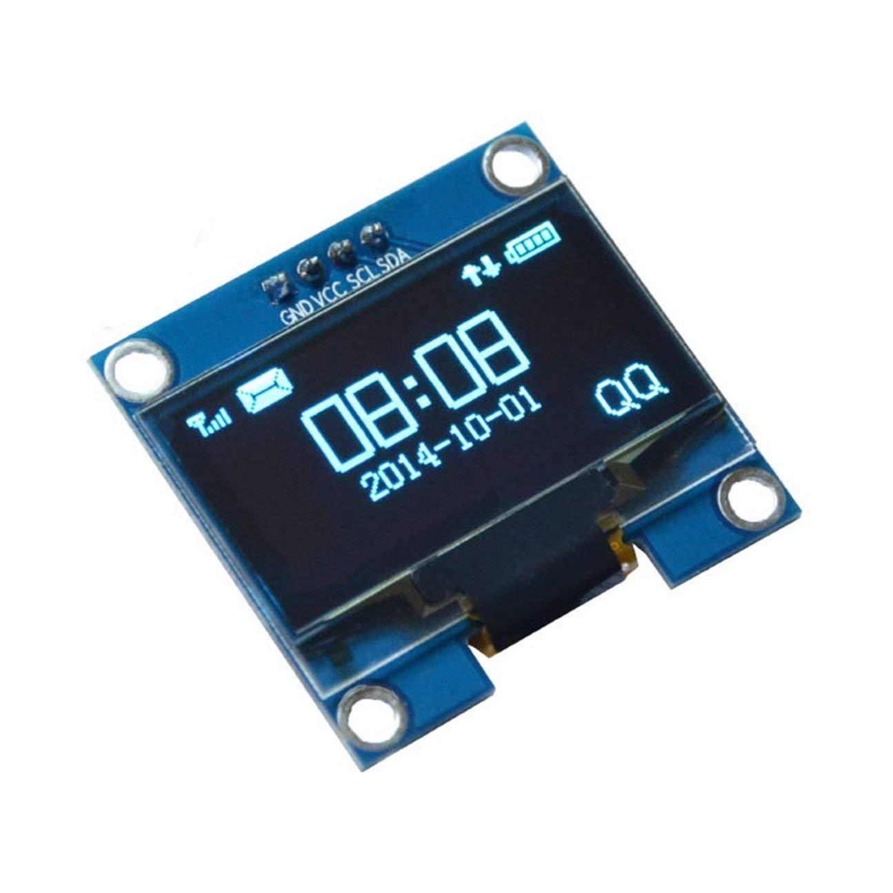 Module d'affichage à LED LCD SH1106 pour ILC série 128X64 OLED de 1,3 pouce 4 IIC IIC pour Arduino 51 MSP420 STIM32 SCR SPI OLED Affichage Bleu MachinYesell