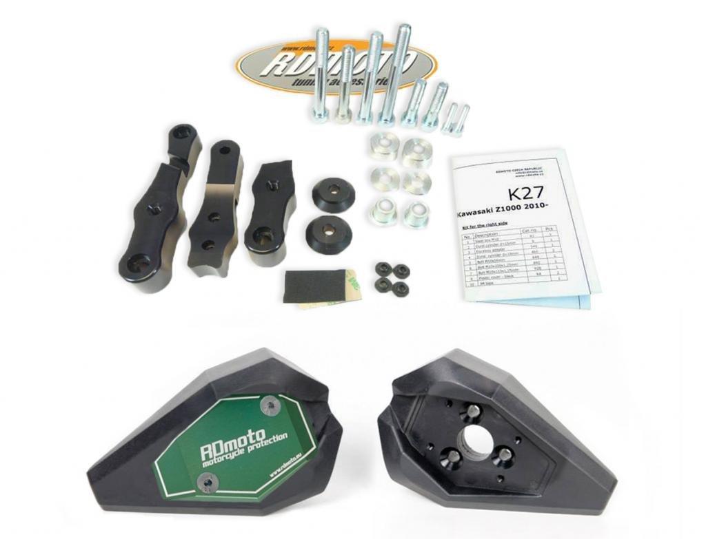 Yamaha FZ1 2006-2013 RD Moto Tamponi paratelaio con Kit di montaggio completo SL01 Nero//Verde