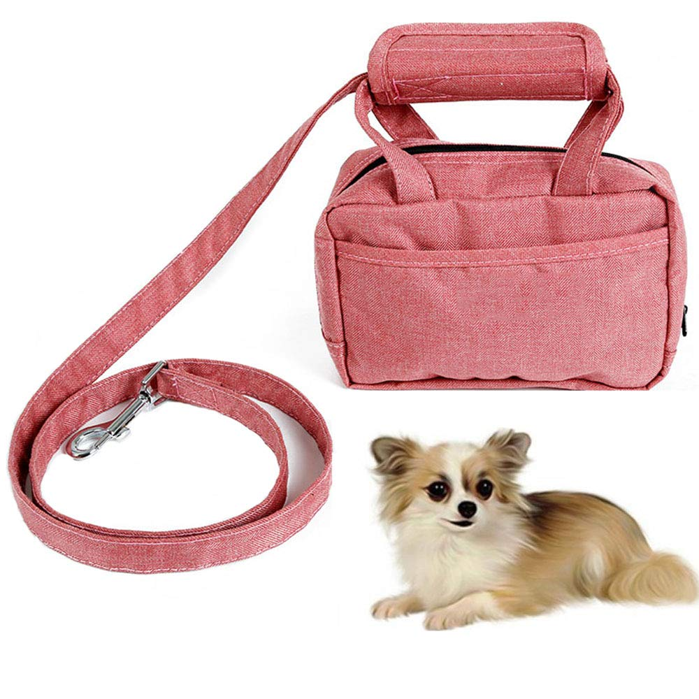 CWH&WEN Dog Travel Bag - Portable Dog Training Treat Pouch Oxford Outdoor Puppy Snack Reward Bag Pet Toys Food Poop Bag Balls Keys Training Accessories by CWH&WEN