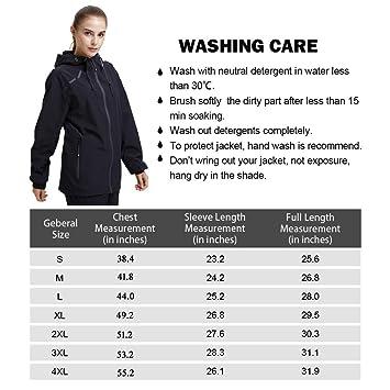 2734f52c83b Amazon.com   UDAREIT Womens Plus Size Windbreaker Jacket Waterproof Running  Coat Hooded Lightweight   Sports   Outdoors