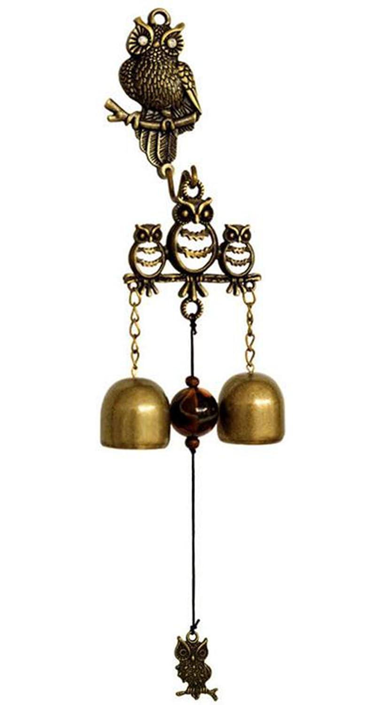 outflower Creative Eule Klingeln, Metall Home Windspiel Ornaments Shop Home Outdoor Klingeln, Garten Dekoration Glocken