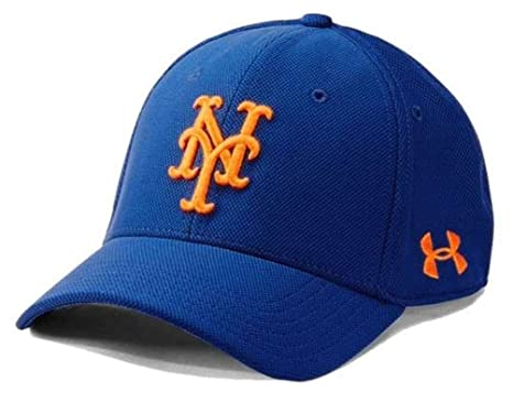 67c7c1eee0ad7 Image Unavailable. Image not available for. Color  Under Armour UA Men s New  York Mets MLB Adjustable Blitzing Baseball Cap