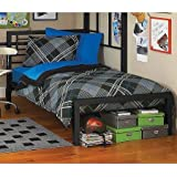 metal twin bed by Your Zone (Black)