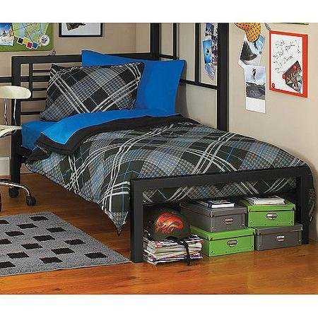 Image of the metal twin bed by Your Zone (Twin, Black)