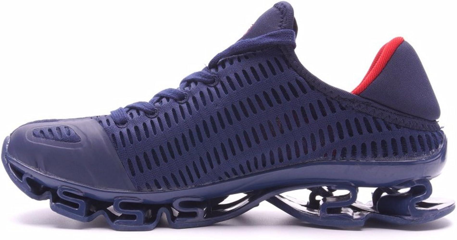 Hombres Running Zapatillas Deportivas Mujeres Adultas Suelas Deportivas Huecas Zapatillas De Superficie Inferior Antideslizante Net: Amazon.es: Zapatos y complementos