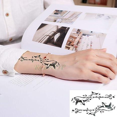 tzxdbh 5pcs Impermeable Pegatinas Tatuaje Tatuaje Tatuaje Negro ...