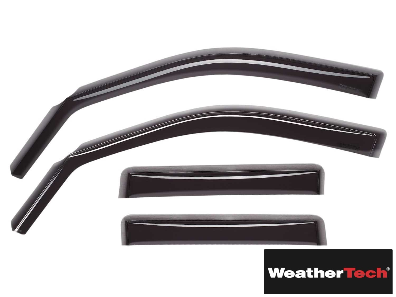Brightt (WEA-OYT-184) Side Window Deflector Visor Rainguard 4 pc. Dark Tint - fits Mazda CX-5-2013 2014 2015 2016 | 13 14 15 16