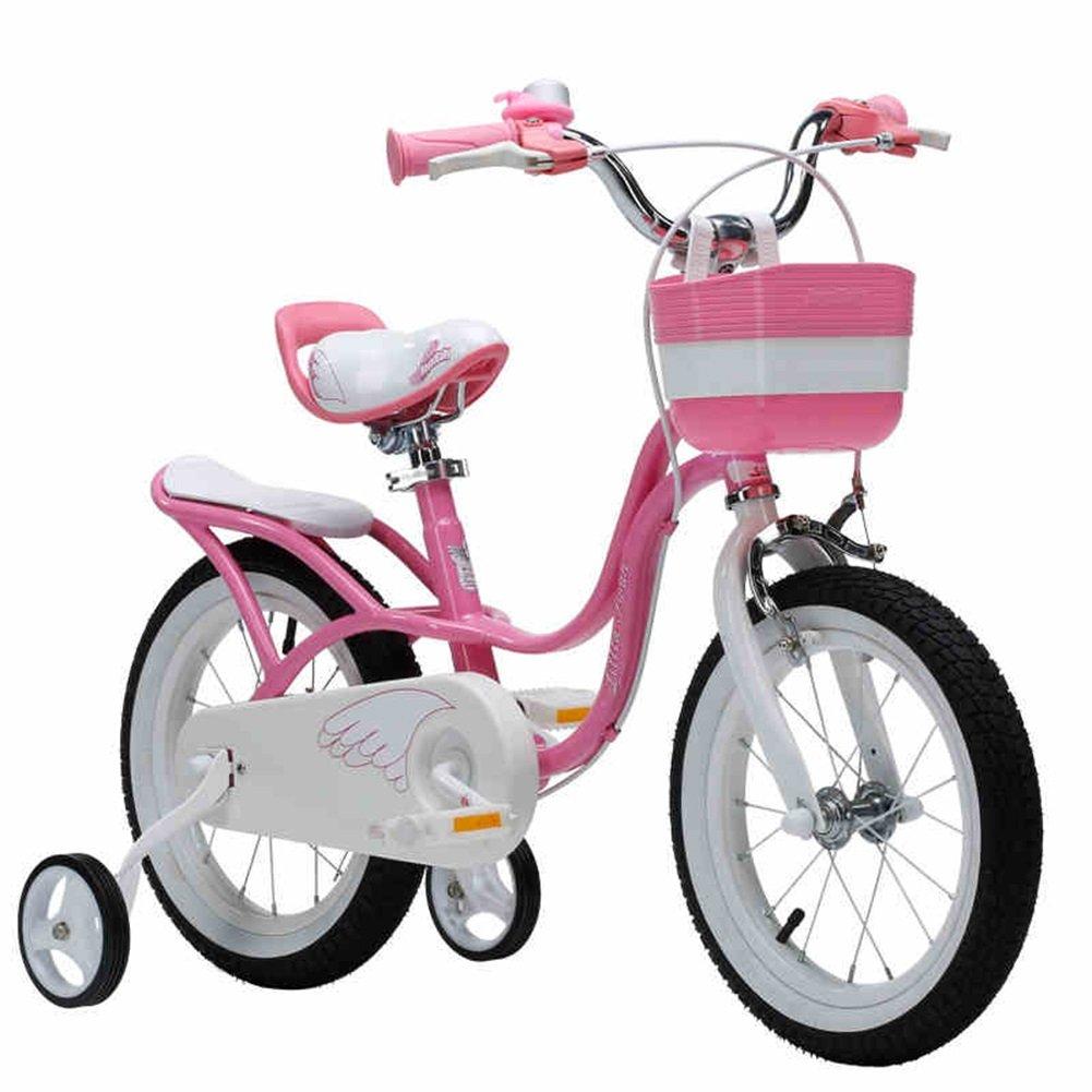 XQ 子供用自転車リトルスワン12/14/16/18インチ3歳5歳6歳女性ベビーキャリッジ自転車 子ども用自転車 ( サイズ さいず : Pink-12inch ) B07C5N1X8M Pink-12inch Pink-12inch
