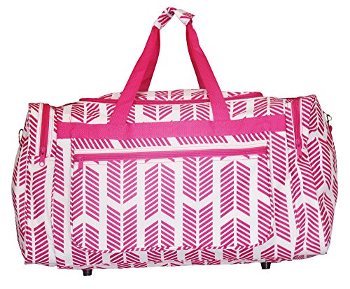 "Price comparison product image High Fashion Print Gym Dance Cheer Travel Duffle Bag 21"" (Pink Arrow)"