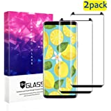 SPIPI Galaxy S8 Plus Screen Protector,[2 Pack] Samsung Galaxy S8 Plus Tempered Glass with Anti-Fingerprint, Bubble Free, 9H Hardness,HD Screen Protector Film[Black]