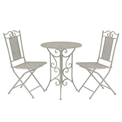 Tidyard Ensemble de Salon de Jardin Style Vintage en Acier ...