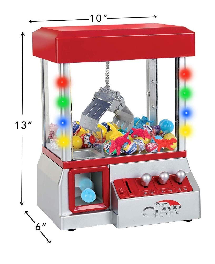 Snow Shop Everything Funny and Exciting Electronic Carnival Claw Game Mini Arcade Grabber Crane Machine 2019 Model RED + 24 Toys by Snow Shop Everything (Image #2)