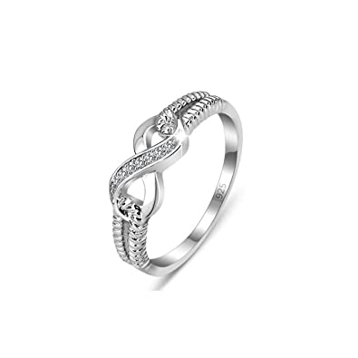 Infinity Ring Eternity Rings Charms Love Symbol Fashion Jewelry Ladies Gifts New