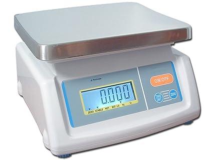 Báscula de baño de calibrado de ingredientes WKA-LI D1 con batería de RHB báscula