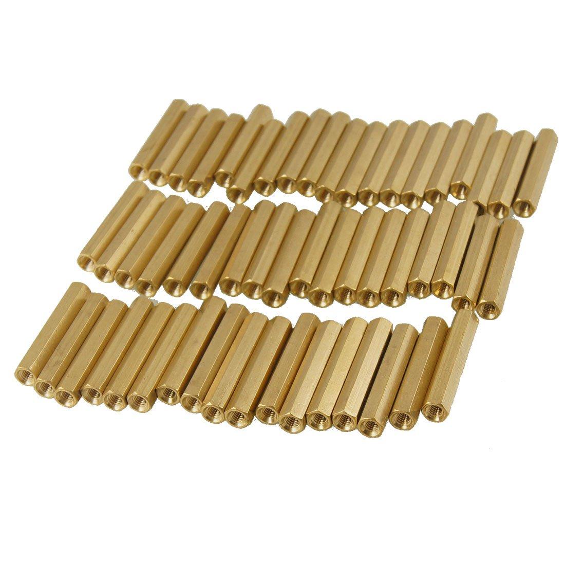 50 Pcs M3X28mm Brass Hex Hexagonal Female Thread PCB Standoff Spacers