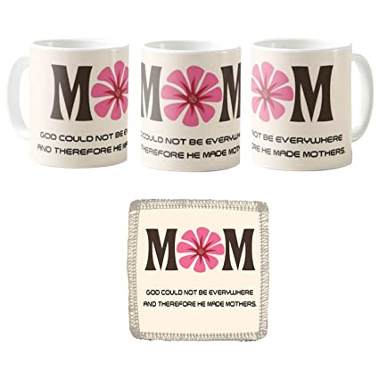 Buy Yaya Cafe Birthday Gifts For Mom Mothers Day God Could Not Be Everywhere And Therefore He Made Mothers Coaster Combo Set Of 2 Online At Low Prices In India Amazon In