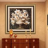 DXG&FX Entrance Decoration Painting Hotel Corridor European Fresco Living Room Sofa Wall Paintings-A 70x70cm(28x28inch)