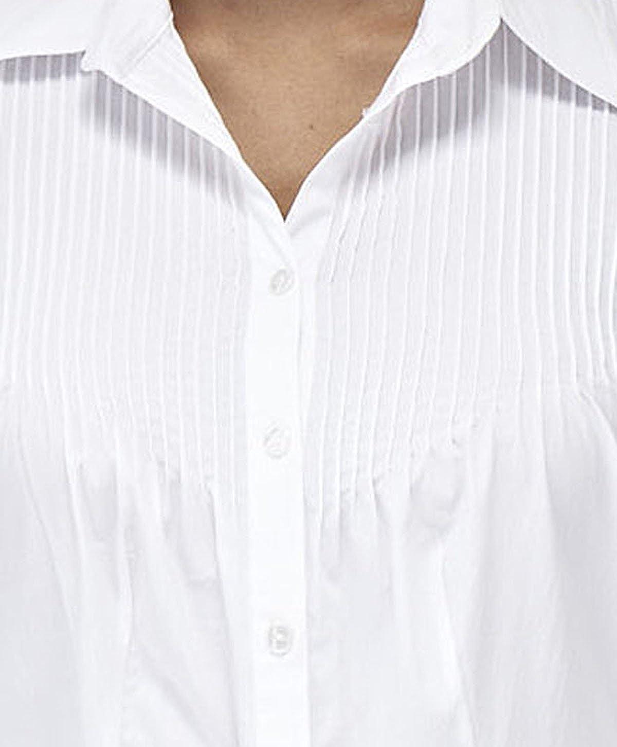 CREATIONS DOUCEL Blusa blanca de algodón LICRA: Amazon.es: Ropa y accesorios