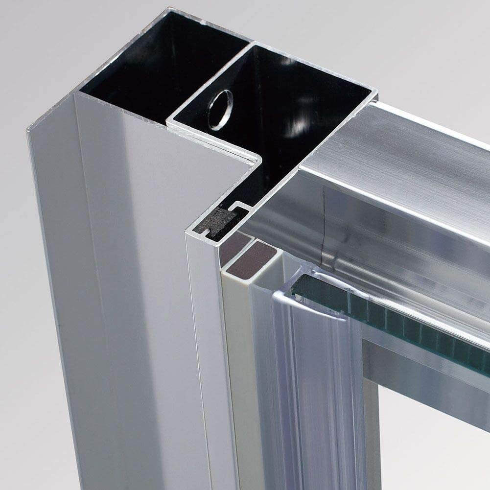 ELEGANT 1200 x 800 mm Sliding Shower Enclosure 6mm Safety Glass Reversible Bathroom Cubicle Screen Door with Side Panel