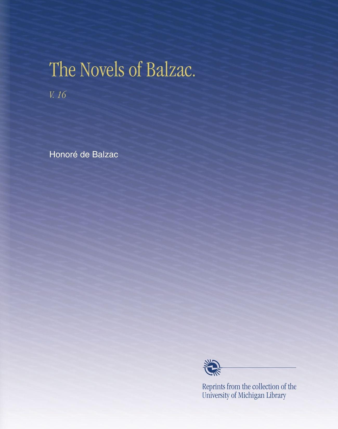 Download The Novels of Balzac.: V. 16 pdf epub