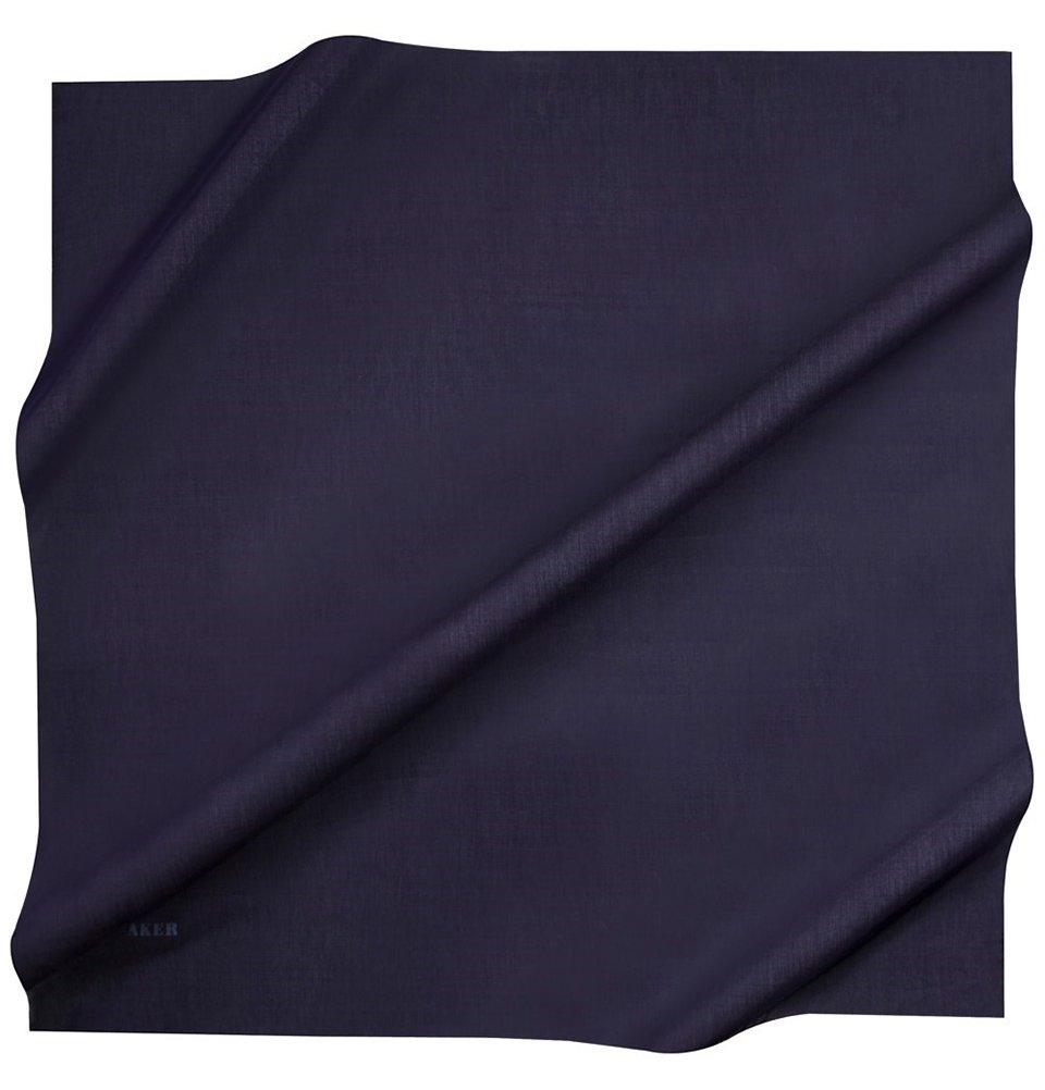 Aker Silk Cotton Turkish Muslim Women's Solid Square Headscarf Islamic Hijab (Navy)