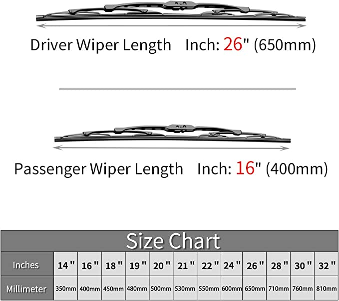fit 2012-2016 Vehicles For Honda CRV CR-V Windshield Wiper Blades 26+16 Front Window Wiper OTUAYAUTO Factory Aftermarket