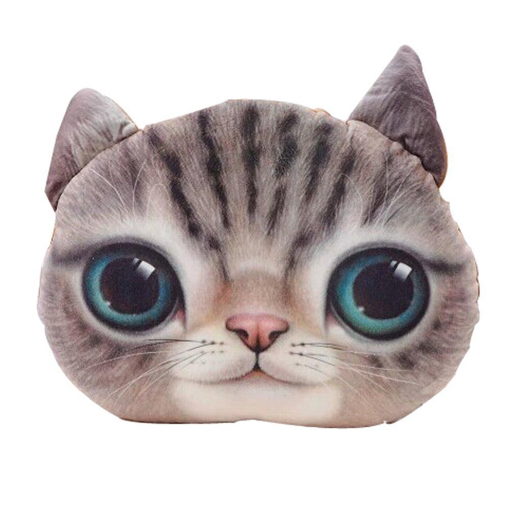 Amazon.com: LifeJoy 18D Plush Cat Head Shape Pillow Car Sofa Chair ...
