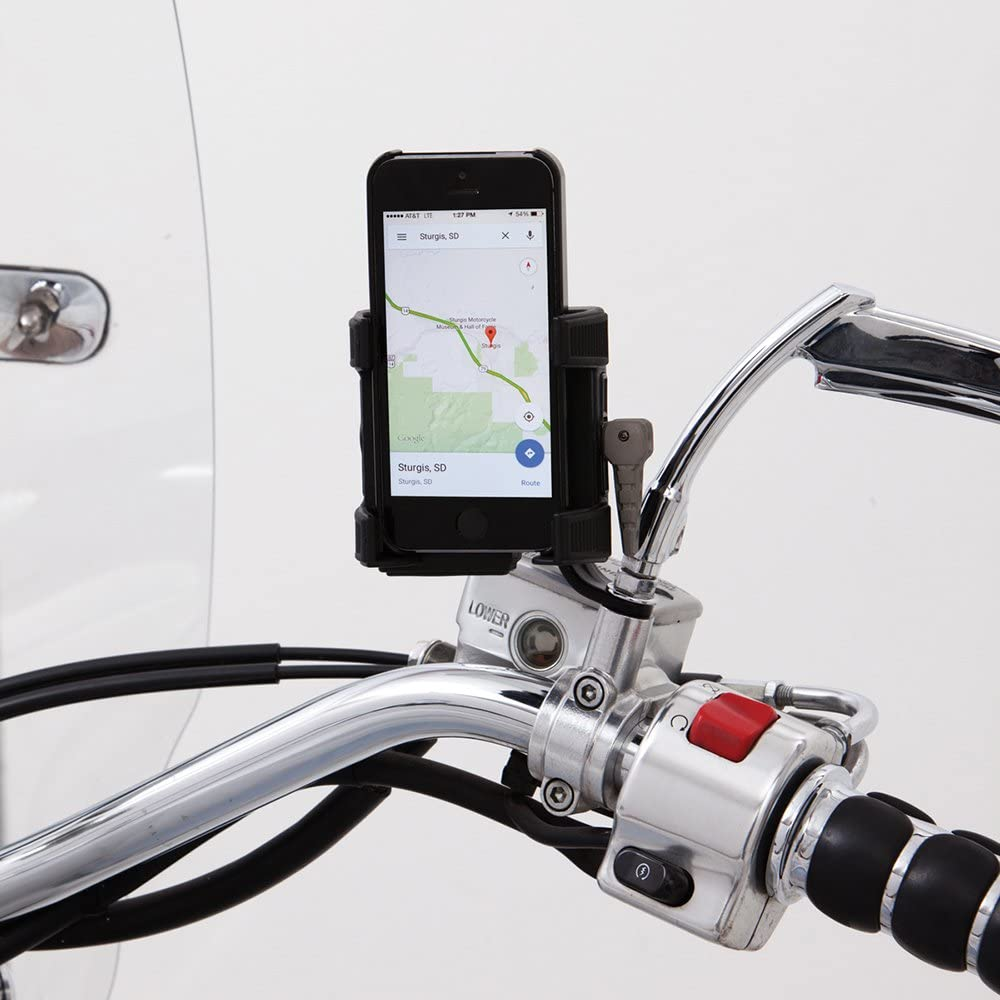 Excluding Flht//Flhx Models Black Mirror Mount Without Charger for All Models CIRO 50320 Smartphone//GPS Holder