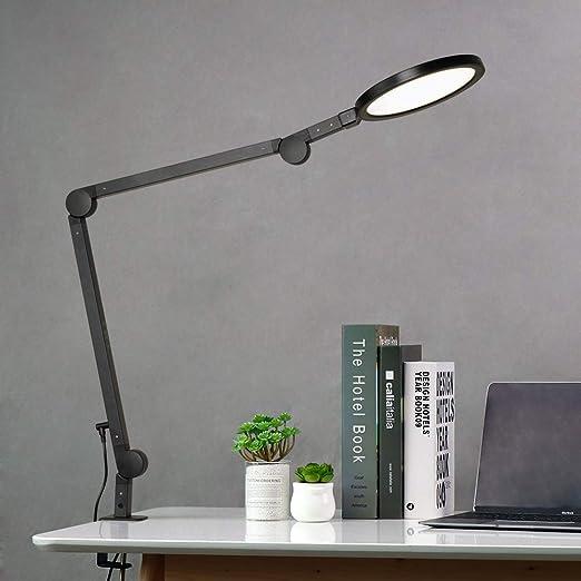 Eyocean 12w Led Schreibtischlampe Schwenkarm Architektenlampe Arbeitsleuchte Augenschutz Büro Tischlampe Berührungssteuerung Stufenloses Dimmen Einstellbare Farbtemperaturen Timing Funktion Beleuchtung