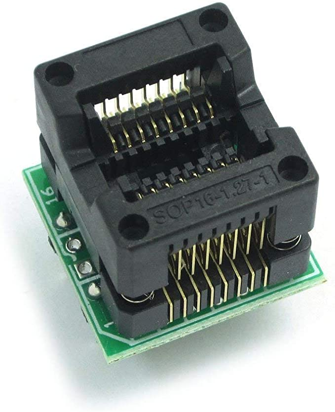 ARCELI 200-208mils SOP8 a DIP8 IC Socket Adaptador Socket OTS-20-1.27-01 para 25xx eeprom Flash