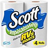 Scott Rapid-Dissolving Toilet Paper, Bath Tissue for RV & Boats , 4ct packs X 12= 48 rolls