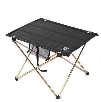 Al aire libre plegable de aluminio mesa de mesa de mesa mesa de centro plegable mesa
