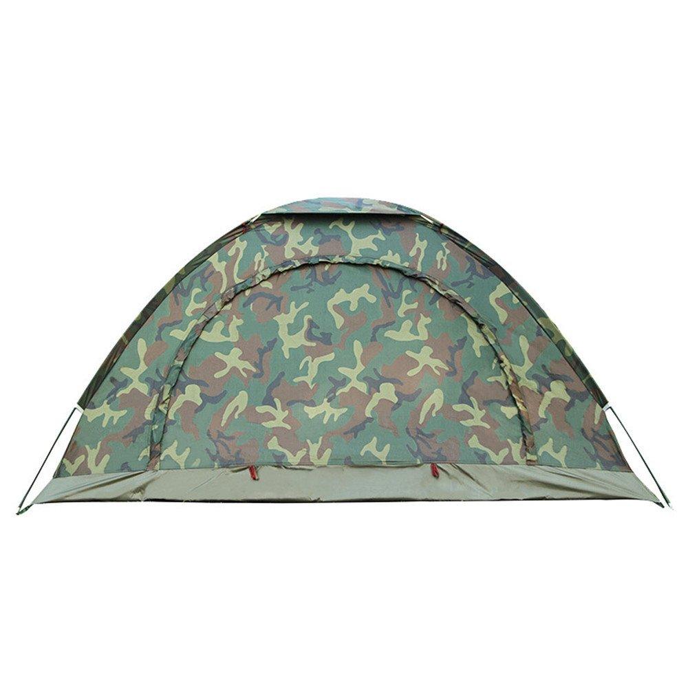 RFVBNM Wild Mosquito Visier Doppel-Single-Layer-Camouflage-Zelte Outdoor Beach Schlepper Camping Zwei-Personen-Touristen-Zelte