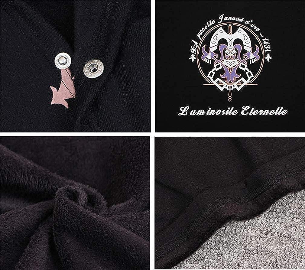 Adelina Anime Cloak Kapuzenpullover Cosplay Kostüm Hoodie Cape Poncho Mantel Outwear Pulli Fashionable Completi Jacke Weiß
