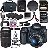 Canon EOS 7D Mark II DSLR Camera with 18-135mm STM Lens 9128B016 + Canon W-E1 Wi-Fi Adapter + LPE-6 Lithium Ion Battery + Sony 128GB SDXC Card + Canon EF 75-300mm f/4-5.6 III Lens 6473A003 Bundle