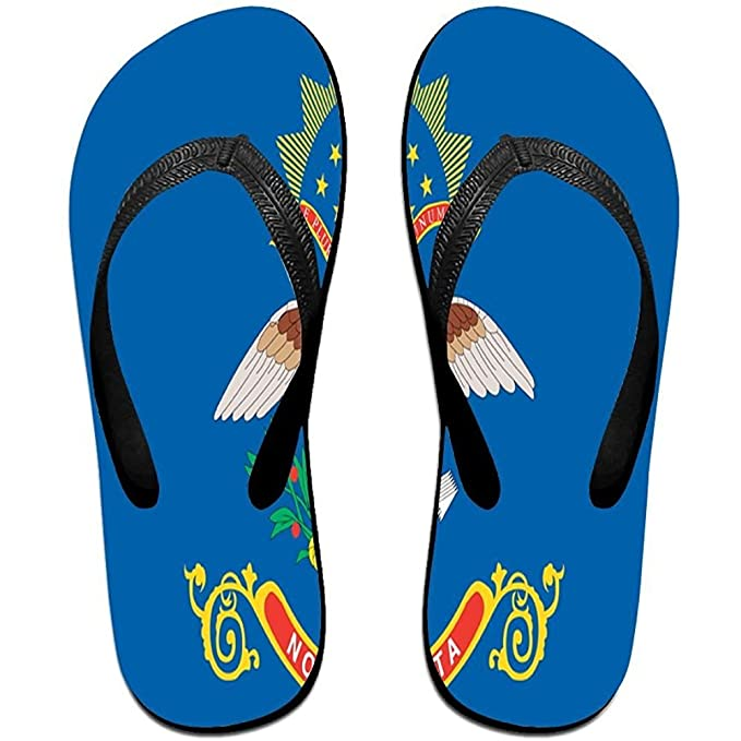 52a81dcf2d86 Image Unavailable. Image not available for. Color  Starphilad Unisex Non-slip  Flip Flops Flag Of The American State Eagle ...