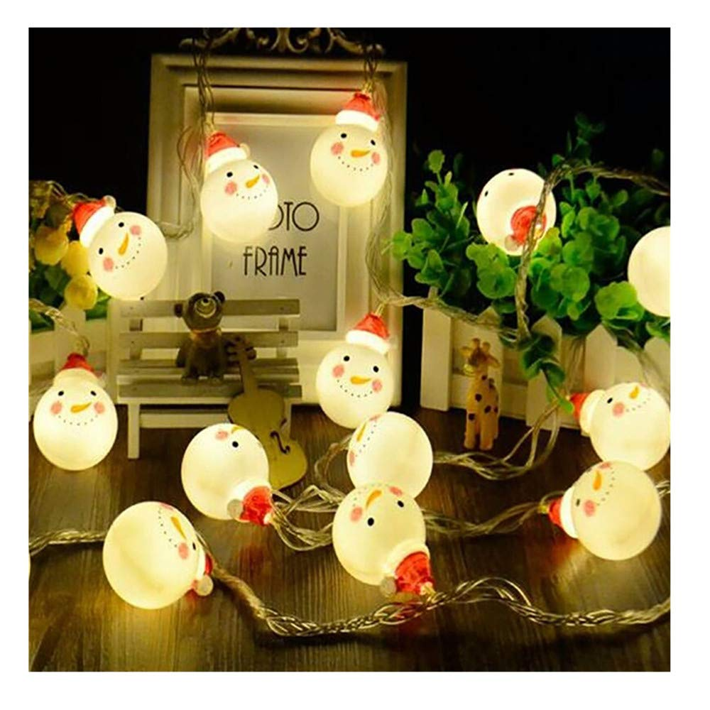 Christmas Lights -Xmas Snowman LED Festive String Fairy Lights Hanging Indoor/Outdoor for Christmas Tree Wedding Events Garden Party Fairy Lamp (1.5M 10LED) BulzEU