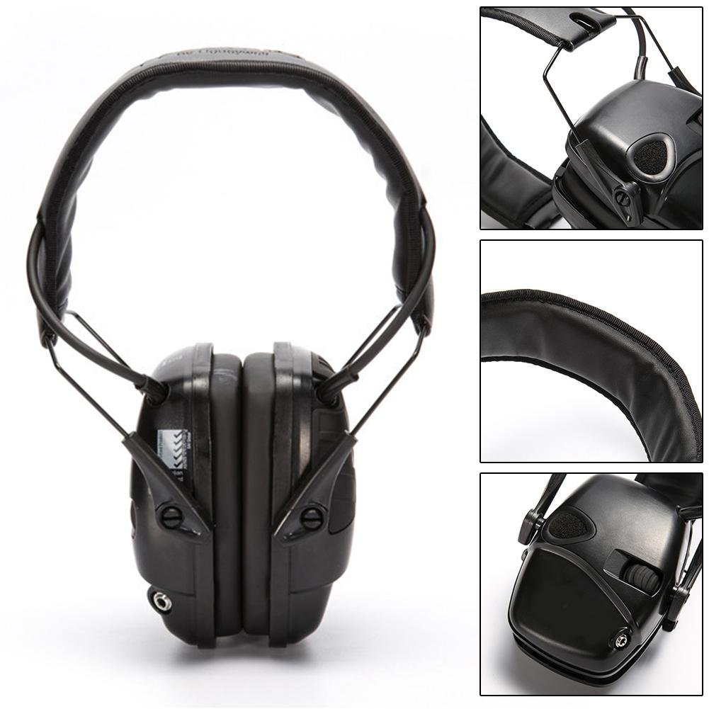 Protector auditivo electrónico de audio,Cascos Aislantes del Ruido,Orejeras de Protección Auditiva de Seguridad para Tiro,Reducción de Ruido de 25 dB,Ideal ...