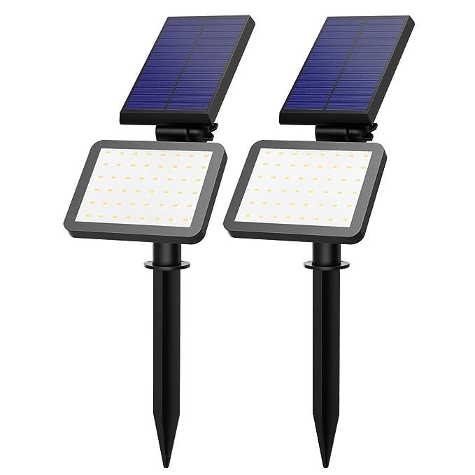 32 opinioni per Lampada Solare 2 Pack OMorc Esterna Impermeabile Illuminazione Giardino Luci