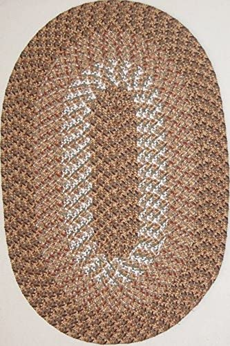Constitution Rugs Hometown 7'4″ x 9'4″ 88″ x 112″ Oval Braided Rug