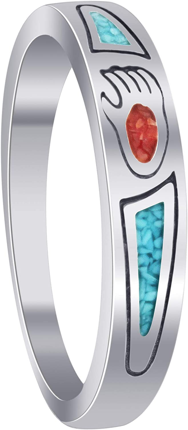 Gift for Her Southwestern Natural Turquoise Sterling Ring
