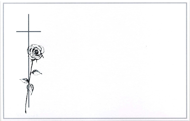 Rössler Papier - - Trauerkreuz-Einzelkarte-SilberRosa Ft. 18