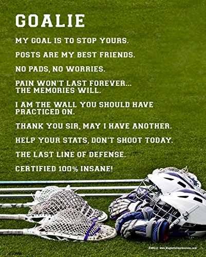 Posters and Prints by Magnetic Impressions Unframed Lacrosse Goalie 8