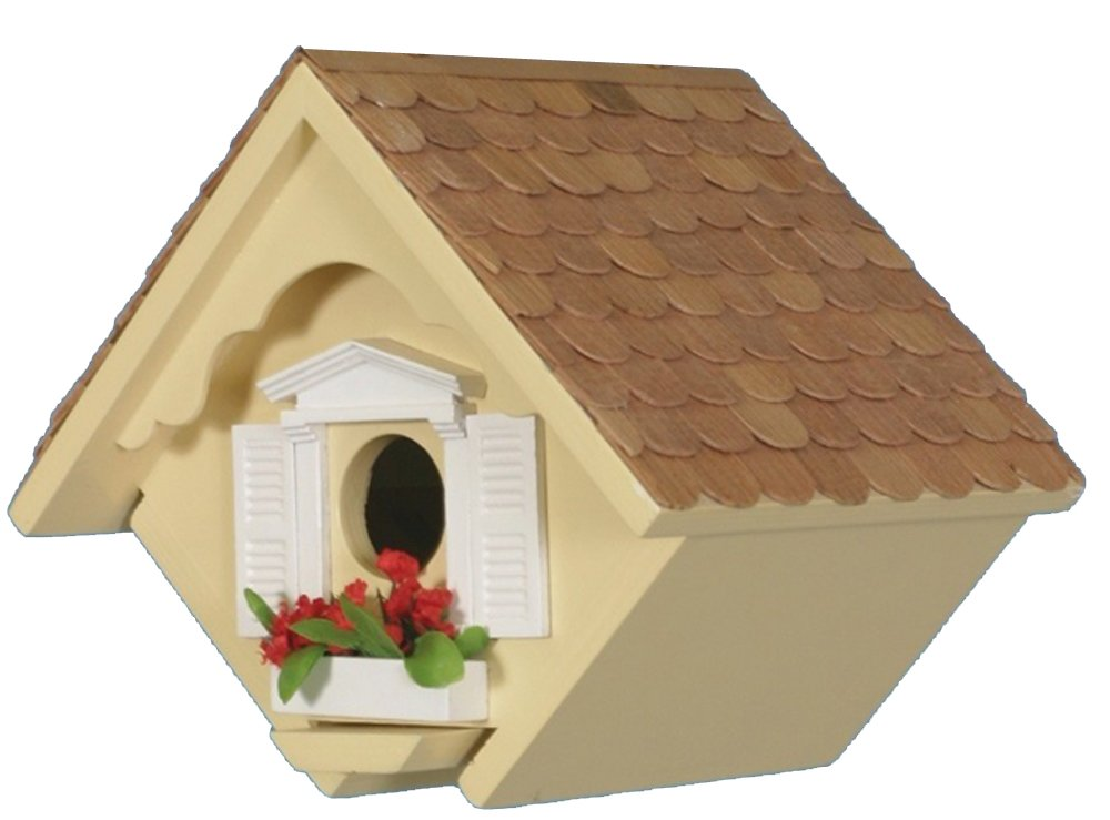 Home Bazaar Hand-made Little Wren Yellow Bird house - Bird Friendly - Home Decor