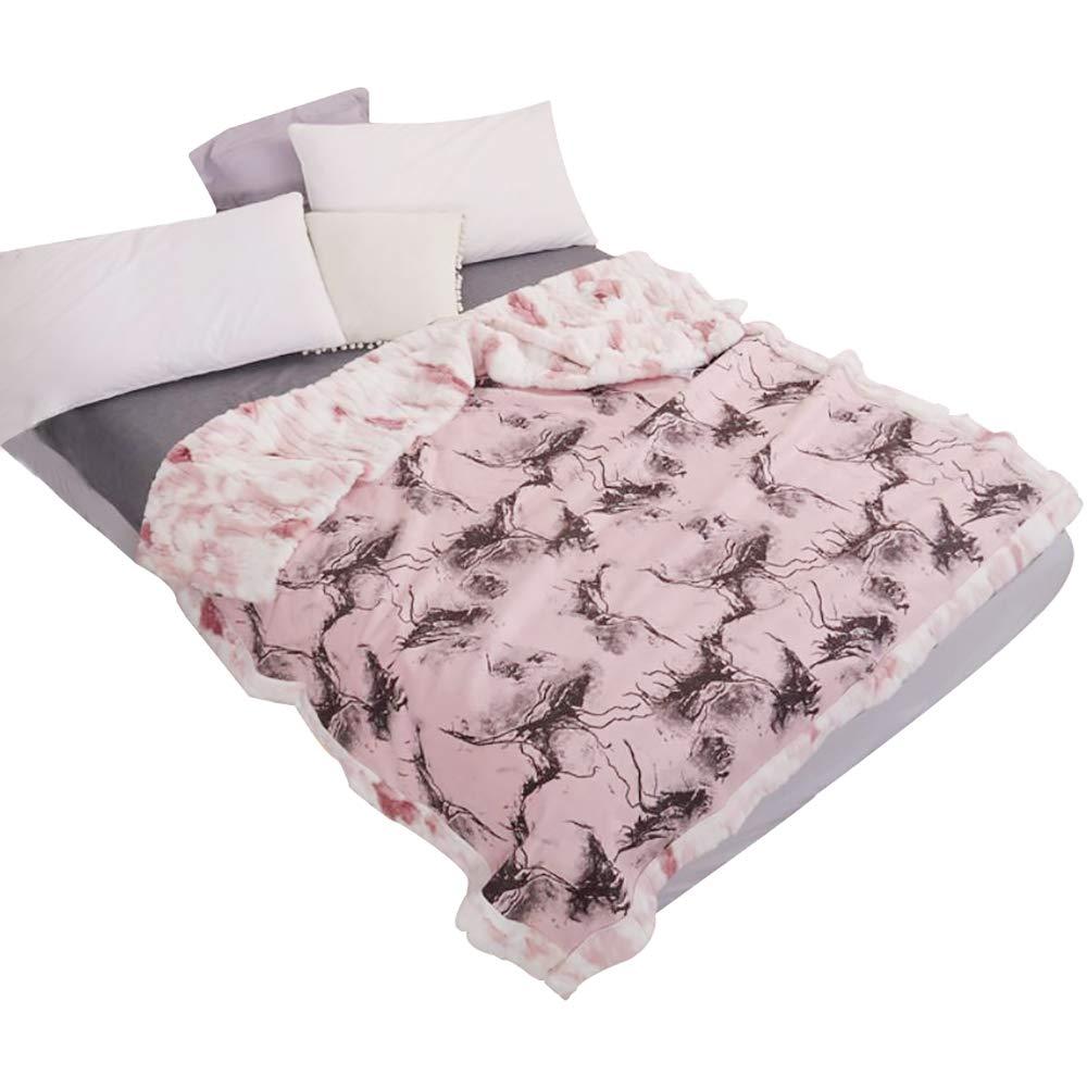 HSBAIS 寝具柔らかいウォーム毛布フルサイズ - 冬毛布赤ちゃんの大人のための偽のウサギのベルベット小さい毛布厚めの贅沢なウォッシャブル暖かいシート ベッドブランケット,pink_150*200cm B07K76XSVR Pink 150*200cm