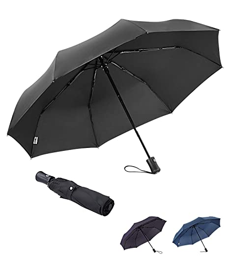 62173842e BOY Windproof Umbrella Compact, Auto Umbrella Automatic Open Close, Extra Strong  Umbrella with Reinforced Windproof Frame, Fast Dry Travel Umbrella for ...