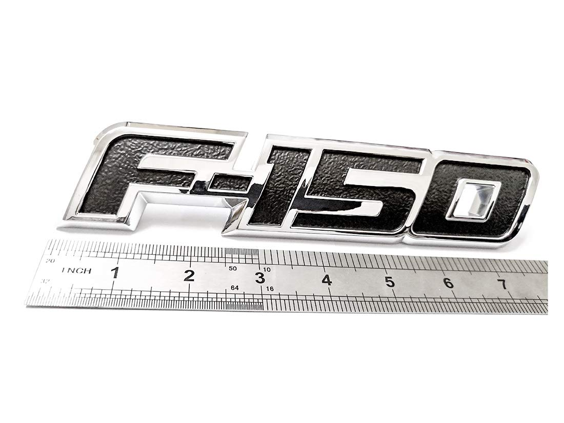 1x F-150 Rear Tailgate Emblem 3D Badge Replacement for F150 2009-2014 Chrome /& Black Aruisi