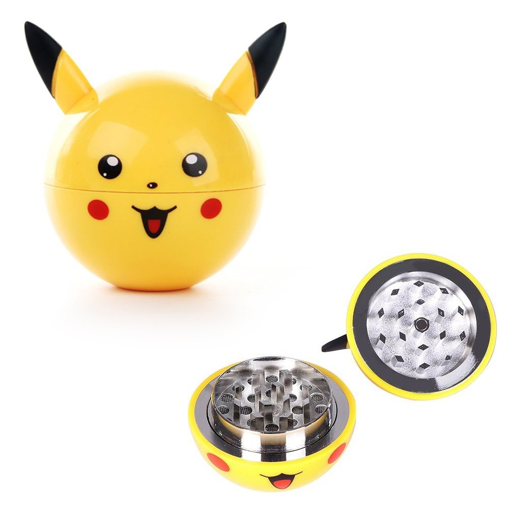 Premium 3 Piece Pokemon Ball Grinder - Ideal for Weed, Tobacco, and Spices - Sharp Blades for A Smooth Grind - Awesome Present for Pokemon Fans - Kief Catcher, Cleaning Cloth and Box Included Coolinko