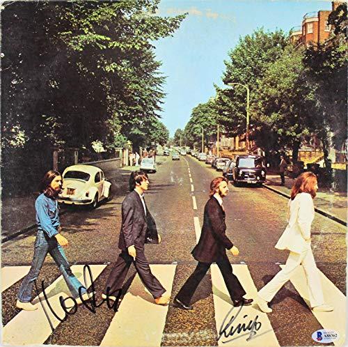 - Ringo Starr & John Kosh Signed Abbey Road Album Cover W/Vinyl BAS #A88362 - Beckett Authentication