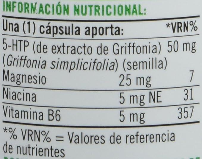 Natures Bounty 5 Htp 50 Mg con Niacina y Vitamina B6-60 Cápsulas: Amazon.es: Salud y cuidado personal